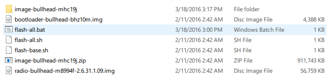 Nexus 5X保留数据线刷升级安卓6.0.1